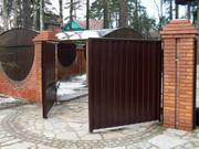 Въездные ворота откатные,  распашные,  сдвижные автоматические ворота. - foto 4