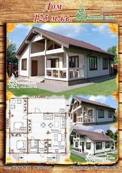 Построим деревянный дом из профбруса 125м.кв.